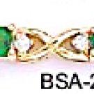 August Birthstone Peridot CZ Bracelet BSA-28