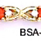 July Birthstone Ruby Red CZ Bracelet BSA-27