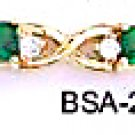 May Birthstone Emerald Green CZ Bracelet BSA-25