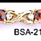 January Birthstone Garnet CZ Bracelet BSA-21