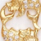 PISCES February 19 To March 20 Astrology CZ Pendant CZP-803