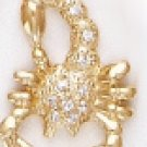 SCORPIO, October 23 To November 21 Astrology CZ Pendant CZP-811
