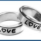 "Stainless Steel  ""LOVE"" Spinner Ring B11197"