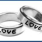 """Stainless Steel  """"LOVE"""" Spinner Ring B11197"""