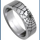 Stainless Steel Spider Web Ring M38-ssr-004-G4