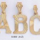 Initial Large Diamond Cut Pendants A-Z S-800