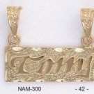 Framed Name Pendants On Gold Layering Nam-300