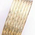Semanario Set of 7 Bangle Bracelet Gold Or Rhodium BNB-77