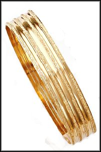 Gold Layered Bangle Bracelet Set  BNB-91