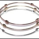 Set of 3 Bangle Bracelet Tri Color  BNB-122
