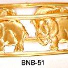 Elephant Bangle Bracelet Gold Or Rhodium Layering  BNB-51