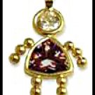 January Girl Birthstone Baby Gold Layered CZ-1