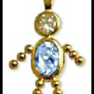 March Boy Birthstone Baby Gold Layered CZ-6