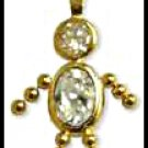 April Boy Birthstone Baby Gold Layered CZ-8