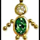 May Boy Birthstone Baby Gold Layered CZ-10