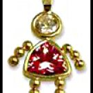 July Girl Birthstone Baby Gold Layered CZ-13