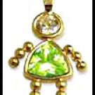 August Girl Birthstone Baby Gold Layered CZ-15