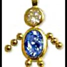 September Boy Birthstone Baby Gold Layered CZ-18