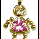 October Girl Birthstone Baby Gold Layered CZ-19