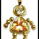 November Girl Birthstone Baby Gold Layered CZ-21