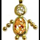November Boy Birthstone Baby Gold Layered CZ-22