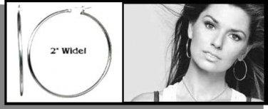 "SHANIA TWAIN'S INSPIRED 2"" HOOP EARRINGS RDHE-2"