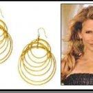 Sedgwick's ( The Closer ) Stunning Multi-Hoop Earrings HE-125