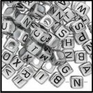 Baby Alphabet Blocks Silver Colored H20-5422PB  4 Pieces