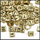 Baby Alphabet Blocks Gold Colored H20-5423PB 4 Pieces