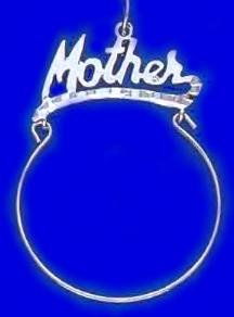 """Mother"" Charm Holder Rhodium Layered RD CH-13"