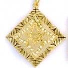 Masonic  Russian Cubic Zirconia Pendant CZP-635