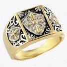 Christian Crusader Knights Templar Masonic Ring  A-412810