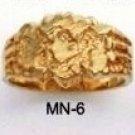 Nugget Ring Gold Or Rhodium Layered MN-6