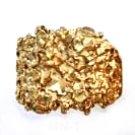 Nugget Ring Gold Or Rhodium Layered MN-1