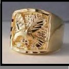 Eagle Ring Gold Or Rhodium Layered MN-10