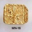 Pot Leaf Ring Gold Or Rhodium Layered MN-16