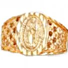 Our Lady Of Guadalupe Ring Gold Or Rhodium Layered MN-21