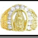 Our Lady Of Guadalupe Ring Gold Or Rhodium Layered MN-25