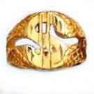 Dollar Sign Ring Gold Or Rhodium Layered MN-24