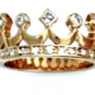 Crown CZ Ring Gold Or Rhodium Layered MN-36