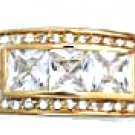 Six Carat CZ Ring Gold Or Rhodium Layered MN-49
