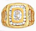Superb CZ Ring Gold Or Rhodium Layered MN-50