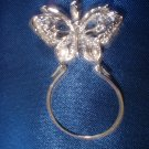 Butterfly Charm Holder Rhodium Layered CH-3
