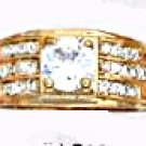 CZ Ring Gold Or Rhodium Layered MN-51-A