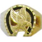 Eagle Ring Gold Or Rhodium Layered MN-73