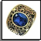 Navy Ring Sapphire Blue CZ Gold Or Rhodium Layered MN-91A