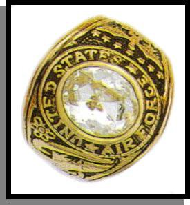 Air Force Ring Clear CZ Gold Or Rhodium Layered MN-92B