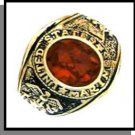 Marines Ring Ruby Red CZ Gold Or Rhodium Layered MN-93A