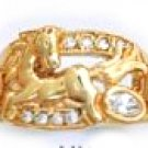 Horse CZ Ring Gold  Layered MN-34
