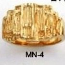 Nugget Ring Gold Layered MN-4
